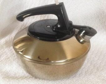 Vintage Stainless Steel Teakettle