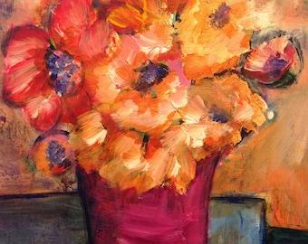 Sunset Floral/Still Life/Flowers