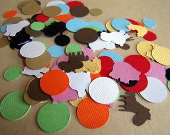 Barnyard Party Confetti, Farm Party Confetti, Barn Birthday Party, Farm Birthday Party, Barn Animal Confetti, Farm Animal Confetti, Confetti