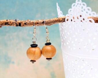 Natural ood earrings
