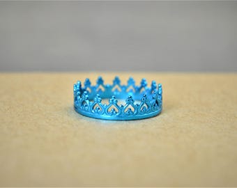 Dainty Turquoise Crown Ring, Turquoise Princess Crown Ring, Princess Ring, Tiara Ring, Queen Ring, Turquoise Ring, Turquoise Princess Ring