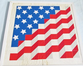 USA flag wall decor 1ft x 1ft