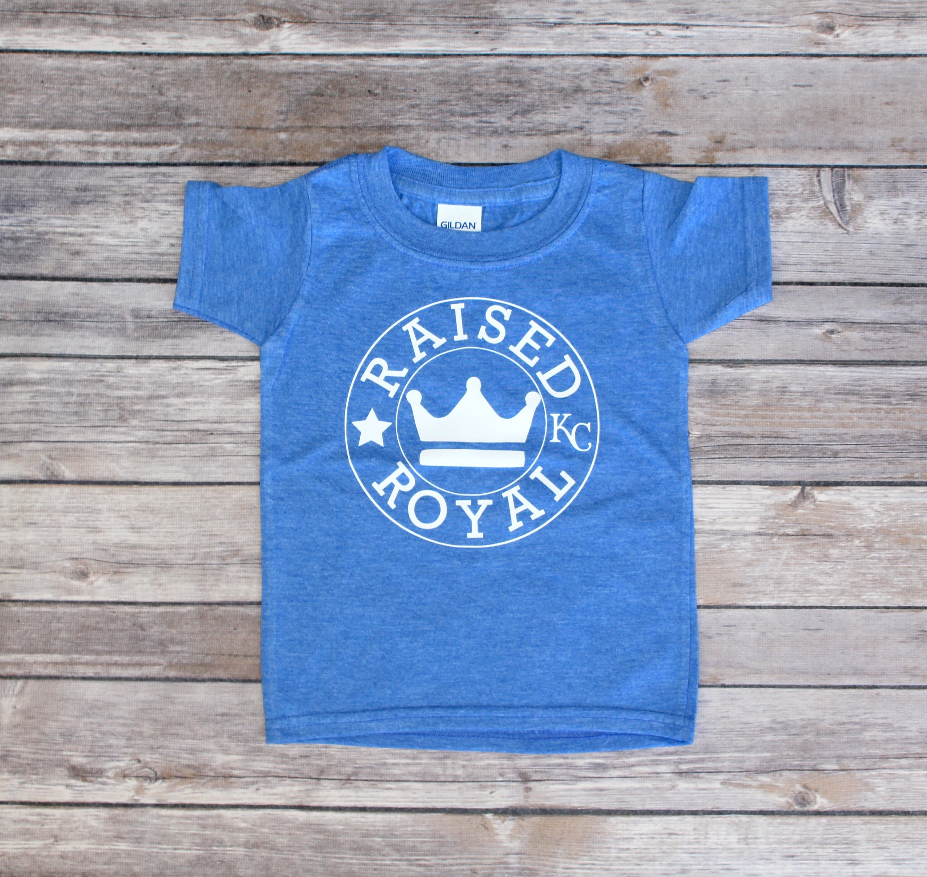 kansas city royals shirt for toddler or adult raised royal