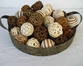 Job lot of 40 decorative balls, bowl fillers, wedding table decor, shabby chic, French style