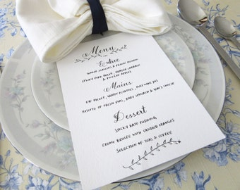 Digital Copy Style No.2: Customized Hand-Calligraphy Menu - Weddings, Party, Special Events (High Resolution PDF File)