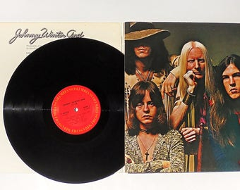 Johnny Winter And Vintage LP: Live Johnny Winter And Vinyl Record Album (1971, Columbia Records) Blues Rock