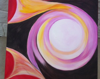 Original Abstract Acrylic Painting-Birth of a Star