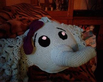 Elephant crochet pillow