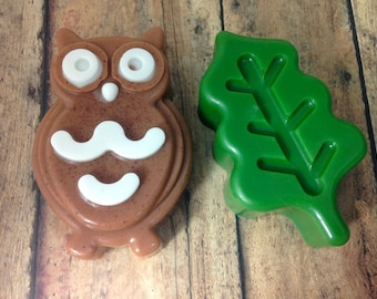 Owl and Leaf Soap Set