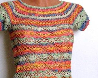 Girl Crochet  Tunic, Lace Tunic For Girls, Girls Dress for 6-8 years old girls