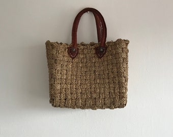 Vintage Straw Bag, Vintage Bag, Straw, Wicker, Straw Bag, Basket Bag, Wicker Bag