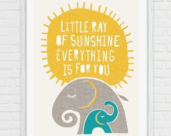 Little Ray of Sunshine Fine Art Print