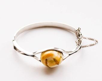 Vintage Handmade Natural Baltic Amber Bracelet 18g