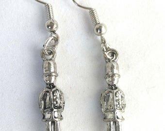 Small Sterling Silver London Guard Earrings, Travel Jewelry for Women, Silver Wanderlust Jewelry, Silver Wander Jewelry, Adventure Earrings