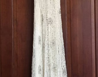 Vintage 20's beautiful lace and beaded small size 1 - 2 dress with matching short sleeve jacket