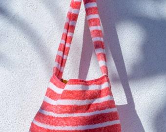 Fresco Towels - Napa Stripes Red - Messenger Bag