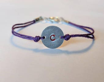 Initial bracelet - IMMEDIATE SHIP
