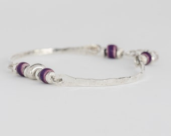 Merrymeeting Bay Handcrafted Recycled Sterling Silver Bangle Bracelet