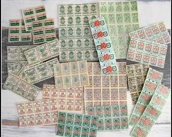 Assorted Green Stamps - Trading Stamps - Discount Stamps - Vintage Green Stamp Lot