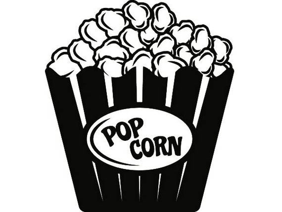 Popcorn Bucket Clip Art Svg Clipart Vector Design