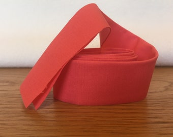 Cotton Quilt Binding- Coral
