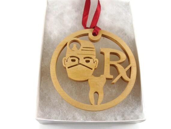 Dentist Or Dental Hygienist Christmas Ornament Handmade From Birch Wood By KevsKrafts