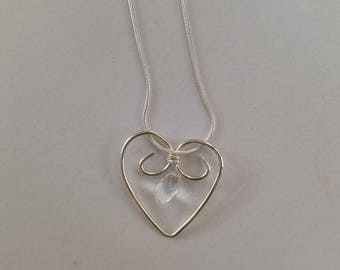 Sterling silver heart (comes with 16 inch chain)