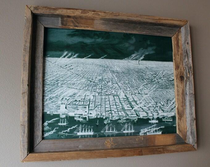 Detroit 1889 Abstract Historic Print - Unframed