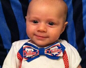 Phillies Bow Tie Onesie