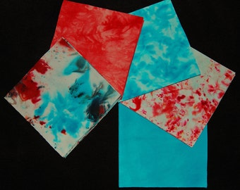 5 x 5 Inch Precut Quilt Squares, FIREWORKS in Red, White & Blue, Pre-Cuts, 40 Squares Total