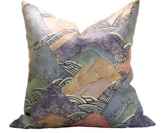 Edo Linen pillow cover in Opal