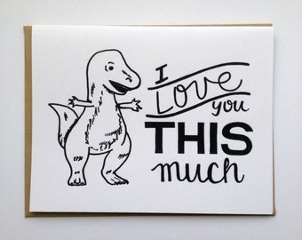 I Love You THIS Much - Hand Lettered Greeting Card