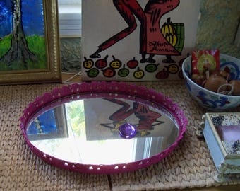 Vanity Tray with Mirrored Base