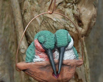 Sleeping hummingbird ornament