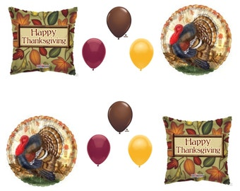 THANKSGIVING TURKEY DINNER Banquet Balloons Decoration Supplies 10 pieces Party Table Centerpiece