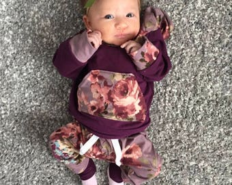 Baby Girl Outfit Baby Girl Clothes Floral Print Baby