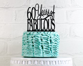 75 Years of Fabulous 75th Birthday Cake Topper or Sign