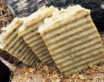 Patchouli and Calendula Body Bar, All Natural, Moisturizing Skin Care, 4.5 oz Soap Bar