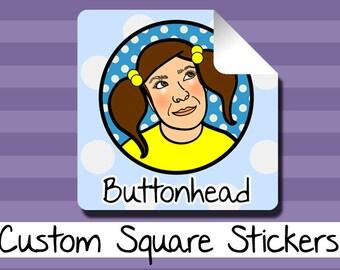 250 Custom Stickers Labels Bulk Wholesale Personalized Square