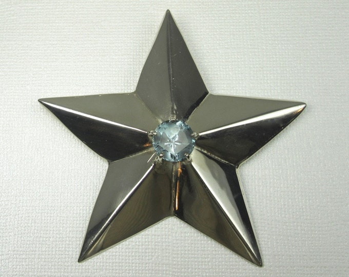 Sterling Silver Star of Texas Pendant; Blue Topaz Star of Texas; Star of Texas Pendant; Blue Topaz Star of Texas Pendant; Lone Star State