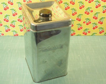 Vintage Chrome Cookie Canister - Garnerware