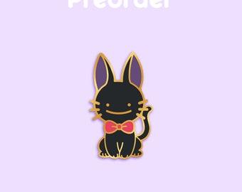 PREORDER JIJI Ditto x Anime Movie Enamel Pin [Studio Ghibli Kiki's Delivery Service Witch Black Cat Familiar Red Ribbon Film Pokemon Parody]