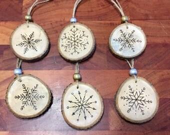 Natural Wood Holiday Ornaments
