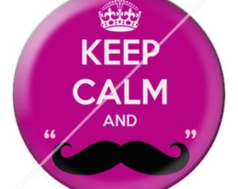 resin cabochon is 25 mm keep calm 10 stuck
