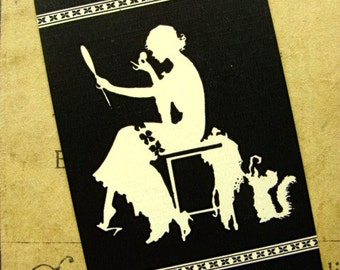 Stunning Antique Art Deco Silhouette Cards Lot for Vanity or Altered Art