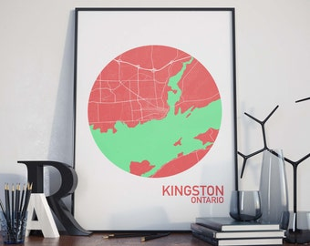 Kingston, Ontario City Map Print