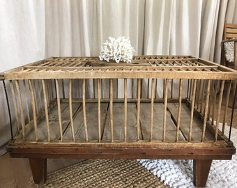 Vintage chicken crate table
