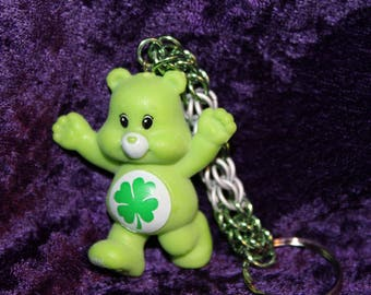 Custom Good Luck Bear chainmaille keychain