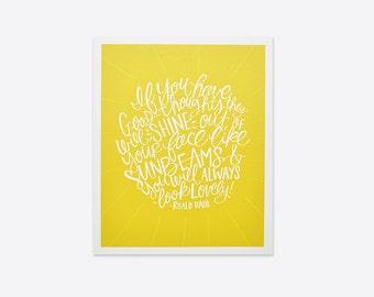 Good Thoughts - Roald Dahl Print