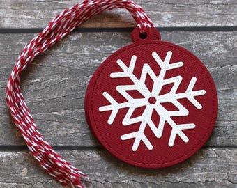 Snowflake Handmade Gift Tags - Set of 8 - Christmas Tags
